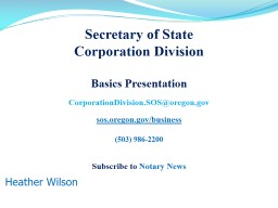 Secretary of State  Corporation Division