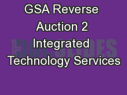 GSA Reverse Auction 2 Integrated Technology Services