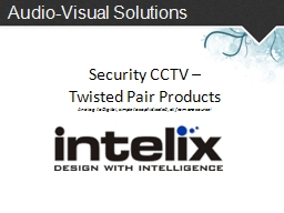 Audio-Visual Solutions Security CCTV –