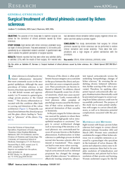 GENERALGYNECOLOGY Surgical treatment of clitoral phimo