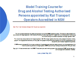 1 Model Training Course for