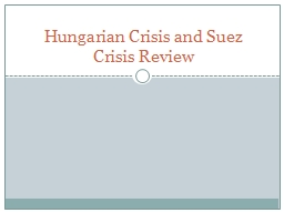 Hungarian Crisis and Suez Crisis Review