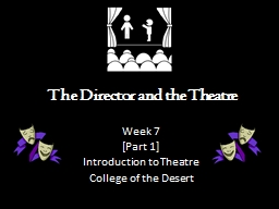 The Director  and the Theatre PowerPoint PPT Presentation