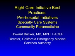 Right Care Initiative Best Practices:
