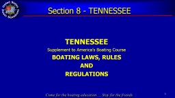 Section 8 - TENNESSEE TENNESSEE