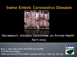 Swine Enteric Coronavirus Diseases