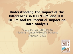 Understanding the Impact of the Differences in ICD-9-CM and ICD-10-CM and Its Potential Impact on D