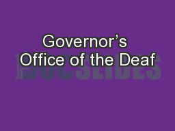 Governor's Office of the Deaf
