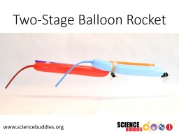 Two-Stage Balloon Rocket