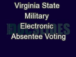 Virginia State Military Electronic Absentee Voting