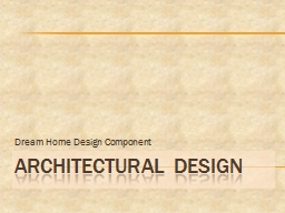 Architectural Design Dream Home Design Component