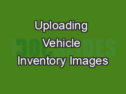 Uploading Vehicle Inventory Images