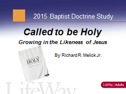 2015 Baptist Doctrine Study