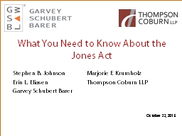 What You Need to Know About the Jones Act PowerPoint PPT Presentation