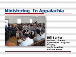 1 Ministering In Appalachia