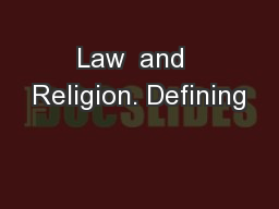 Law  and  Religion. Defining