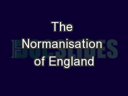 The Normanisation of England