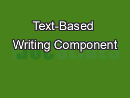Text-Based Writing Component