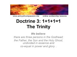 Doctrine  5:  Sin Begins