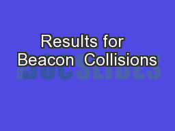 Results for  Beacon  Collisions
