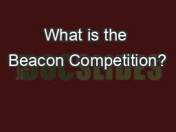 What is the Beacon Competition?