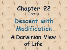 Chapter 22 Part  3   Descent with Modification