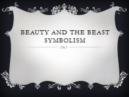 Beauty and the Beast Symbolism