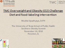 TMC Overweight and Obesity (O2) Challenge