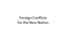 Foreign  Conflicts  for
