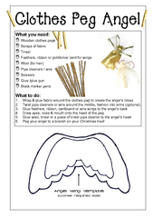 Clothes Peg Angel Angel wing template choose required