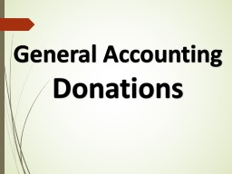 General Accounting Donations