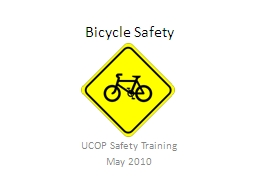 Bicycle Safety UCOP Safety Training