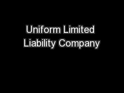 Uniform Limited Liability Company