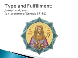 Type and Fulfillment: Joseph and Jesus