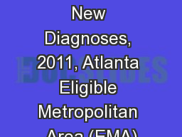 HIV Care Continuum  New Diagnoses, 2011, Atlanta Eligible Metropolitan Area (EMA)