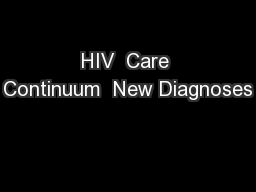 HIV  Care Continuum  New Diagnoses