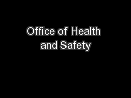 Office of Health and Safety