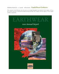 PPENDIX  CASE STUDY EarthWear Clothiers The company in