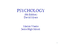 1 PSYCHOLOGY (8th Edition)