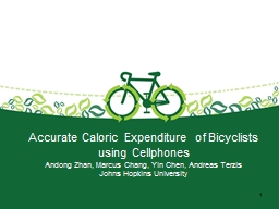 Accurate Caloric Expenditure of Bicyclists using Cellphones