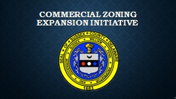 commercial zoning Expansion Initiative