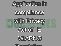 WISCONSIN NATIONAL GUARD TUITION GRANT APPLICATION Application in compliance with Privacy Act of   E WIARNG Regulation  WI ANG Regulati on  and WI Statutes Section