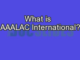 What is  AAALAC International?
