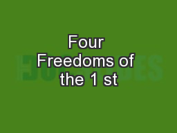 Four Freedoms of the 1 st
