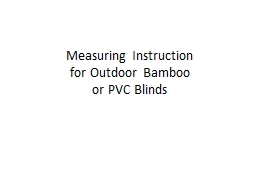 Measuring Instruction for Outdoor Bamboo