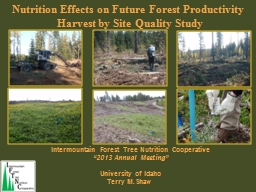 Intermountain Forest Tree Nutrition Cooperative