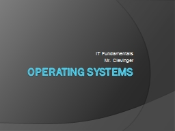 Operating Systems IT Fundamentals