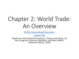 Chapter 2: World Trade: An Overview