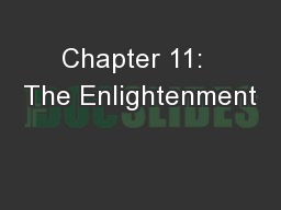 Chapter 11:  The Enlightenment