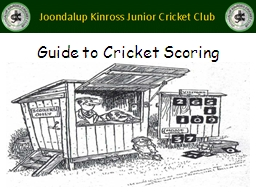 Guide to Cricket Scoring